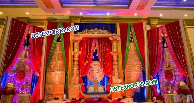 Traditional indian wedding stage decoration junglespirit Image collections