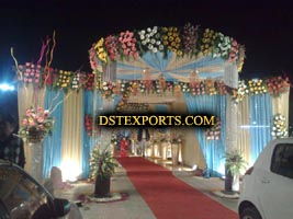 INDIAN WEDDING CRYSTAL PILLARS WELCOME GATE