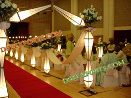 WEDDING LIGHTED DIAMOND GATE WITH AISLEWAY PIL