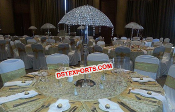 Decorated Table Centerpieces Crystal Umbrella