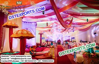 Wedding decorated umbrellas indian wedding mehandi stage decoration umbrellas junglespirit Image collections